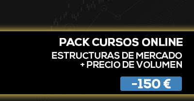 Pack Cursos online estructuras de mercado + precio de volumen BPT Friday